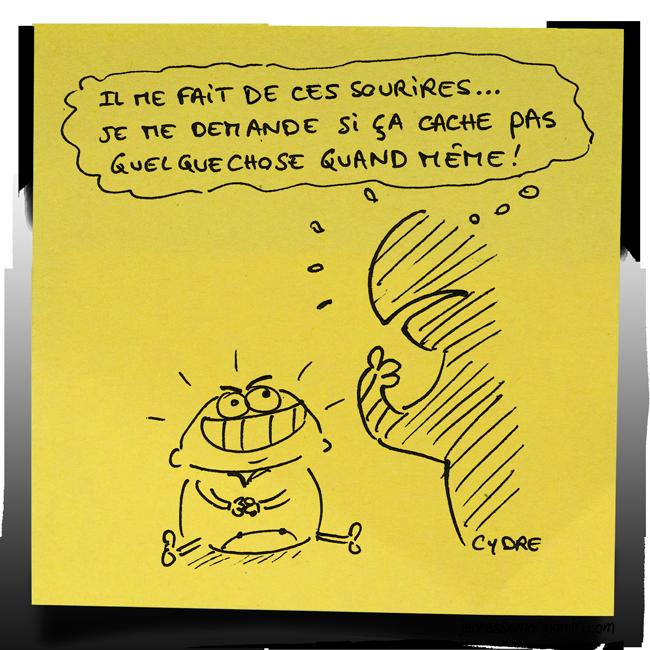 """""""Que de beaux sourires !"""" - Méfiance... / Cydre - jedressemongamin.com"""