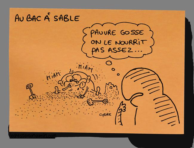 """""""Au bac à sable"""" - Conséquence des dernières restrictions budgétaires ? / Cydre - jedressemongamin.com"""